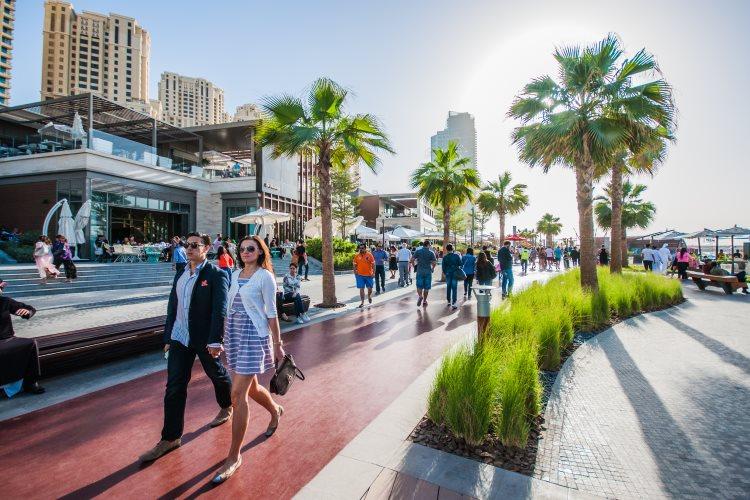 Touristes à Dubaï