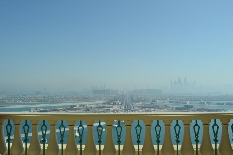Vue sur The Palm depuis Atlantis Dubai