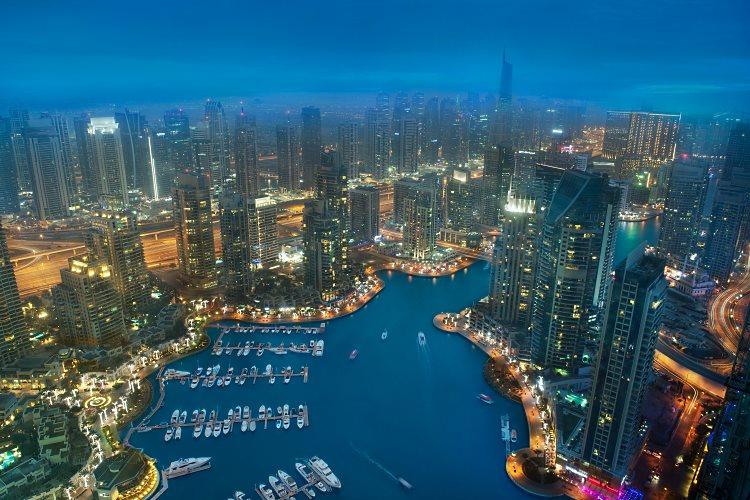 Vue sur la Marina de Dubaï