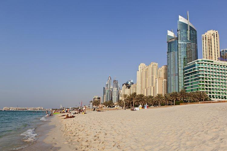 Plage du Hilton Jumeirah Beach