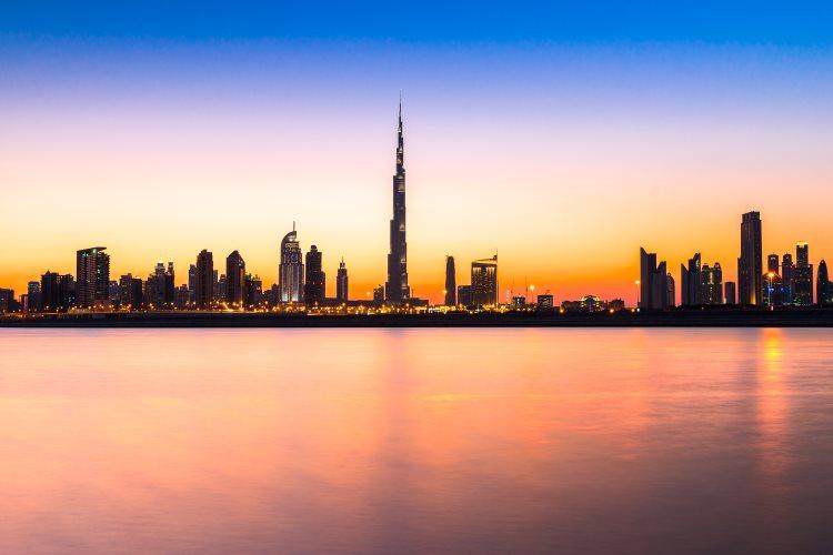 Coucher de soleil sur Dubaï
