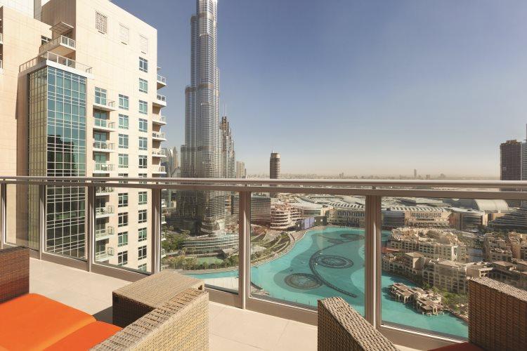 Ramada Downtown Dubaï - Penthouse - Vue depuis le balcon