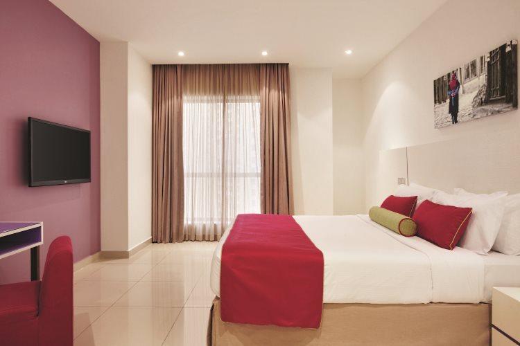 Hawthorn Suites by Wyndham Dubaï - Appartement 1 chambre Vue Mer - Chambre