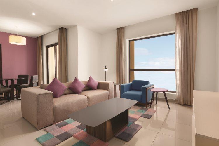 Hawthorn Suites by Wyndham Dubaï - Appartement 1 chambre Vue Mer - Salon