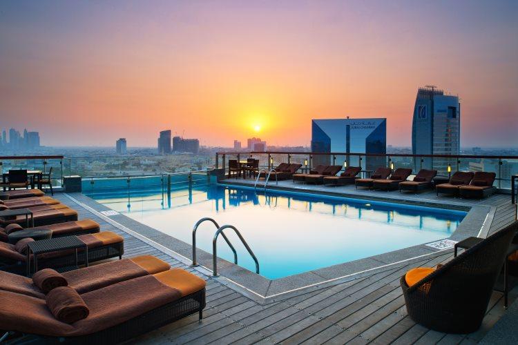 Hilton Dubaï Creek - Coucher de soleil