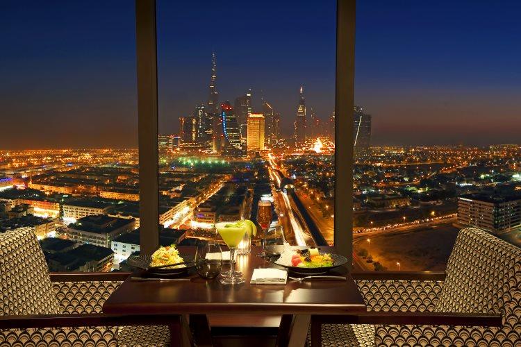 Park Regis Kris Kin - Restaurant Kris - Vue sur Dubaï
